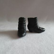 NEW Barbie Style Glam Luxe Nikki Doll Black Short Boots ~ Flat Shoe ADD ON ITEM!