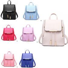 Ladies Handbag Plum PU Leather Girls School Bag Womens Backpack iPad Rucksack UK