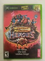 Dungeons & Dragons Heroes (Microsoft Xbox, 2003) Complete VG FREE S/H