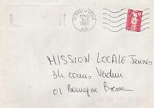 Sur Enveloppe - Flamme muette PONT DE VEYLE (Ain) du 3-5-1993 sur Marianne