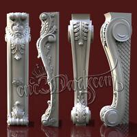 2 3D STL Models Furniture decor for CNC Router Carving Machine Artcam aspire