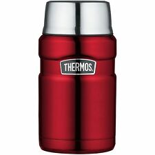 Thermos Stainless Steel King Food Flask, 0.71L, Red, 101514