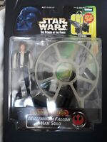 STAR WARS POWER OF THE FORCE POTF2 MILLENNIUM FALCON HAN SOLO GUNNER STATION MOC
