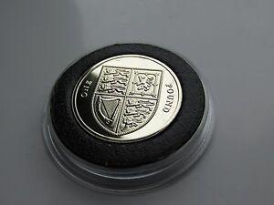 2015 UK £1 coin Shield design 4th portrait. CASED/Mint!