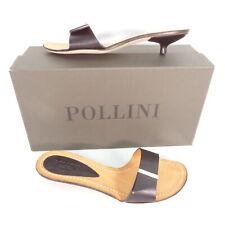 POLLINI Damen Kitten Heels Schwarz EU 37 Leder Leather Shoes