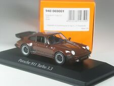 Klasse: Maxichamps Porsche 911 Turbo 3,3 braun in 1:43 in OVP