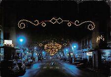 Spain Denia Alicante Avda Generalisimo en Fiestas Vista nocturna