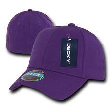 Purple Plain Solid Blank Flex Baseball Fit Fitted Ball Cap Caps Hat Hats OSFA