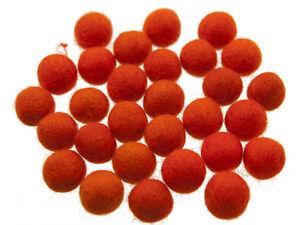 50 Perline Palle Di Feltro Naturale Ø=2.1 CM Nepal Arancione BO1