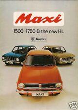 Austin Maxi 1972-76 UK Market Sales Brochure 1500 1750 HL