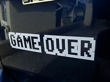 Game over , funny car / laptop  Euro/ JDM quality vinyl sticker / Decal 12colors