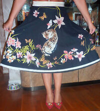 Class Roberto Cavalli handpaint color design cotton  skirt orig $1200