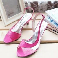 Ladies Sandals Synthetic Leather High Heels Pumps Slingbacks Shoes US Size S767