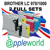2 Conjunto De Cartuchos tinta compatible con LC970 / LC1000 [not Brother