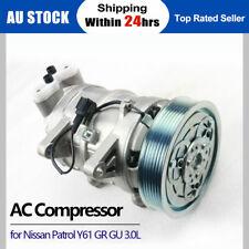 New Air Conditioning AC Compressor for Nissan Patrol Y61 GR GU 3.0L ZD30DDTi