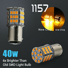 2X 1157 40W High Power Amber Yellow SMD LED Front Turn Signal Light Bulbs Lamp
