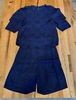 TOGA Pulla Shirt + Jacquard Shorts Blue Size 36 (US 4)