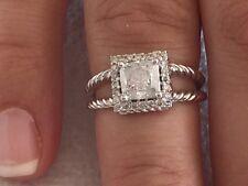 1.35 TCW cushion cut 14K white gold diamond engagement ring