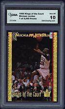 1995 Michael Jordan Kings of the Court Promo Card Mint 10