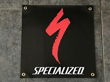 Specialized banner sign shop wall garage mountain bike biking trail downhill