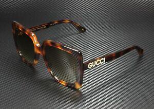 GUCCI GG0418S 003 Rectangular Square Havana Brown 54 mm Women's Sunglasses