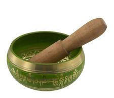 Bol chantant du Bengale-Note Do 2065 Hz-Om- 10 cm-petit modele vert 3909 -S11B