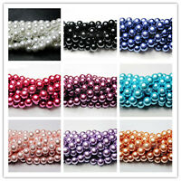 Wholesale 100Pcs 4/6/8/10mm Czech Glass Pearl Round Beads Spacer Jewelry Making