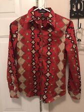Lauren Ralph Lauren Aztec Southwest Button Up Shirt Womens Petite Extra Small