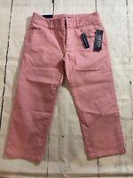 NWT Chaps Ralph Lauren Denim Capri Pants Slimming Fit Jeans Pink Size 4