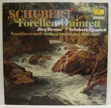 """SCHUBERT FORELLEN-QUINTETT JÖRG DEMUS SONATINE SCHNEIDERHAN KLIEN 12"""" LP (e632)"""