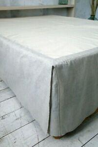 Linen Dust Bed Skirt. Bed skirt. 100% Linen. Natural. Queen, king, custom size.