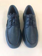 NEW Hush Puppies Men's Gus Dark Teal Leather Shoes Sz 10 Lightweight Walking NIB