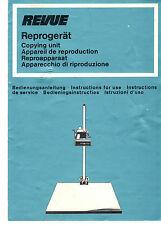 Bedienungsanleitung Notice d ´emploi Handbook Revue Reprogerät  B182