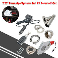 """UNIVERSAL FIT POWERED EXHAUST CUT OFF VALVE KIT 2.25"""" ELECTRIC CONTROL SYSTEM"""