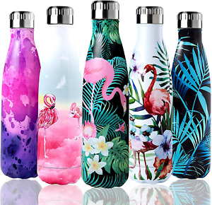 Shinemefly Bouteille d'eau Isotherme, Gourde INOX Thermos 500ml, Bouteille Therm