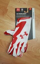 Under Armour Highlight Football Gloves Red White Adult Small youth XL 1271169