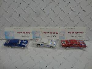 Hot Wheels 21st Annual Convention Red/White & Blue '67 Pontiac GTO's Baggie Cars