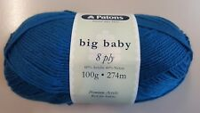 Patons Big Baby 8 Ply #2588 Kingfisher Blue 100g Acrylic