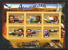 GUINEA 2008 MiNr: 5817 - 22 IMPERF ** LOCOMOTIVE RAILWAY TRAIN AFRICARAIL 2008