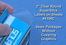 600 Printable Clear Round Stickers 2 inch Glossy Box Seal Labels 50 Sheets 4198C