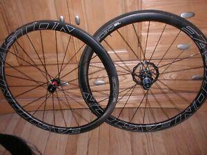 Easton EC90 SL carbon tubular wheels wheelset disc 142/ 12mm thru axle