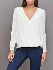 Cooper & Ella Women's Alyssa Wrap Blouse LARGE RRP £125