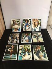 Dallas Cowboys Cheerleaders 1981 Topps Series Lot of 9