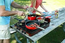 burner stove top outdoor cooking propane gas portable camping griddle RV BBQ LP