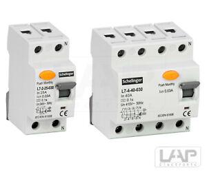 Fehlerstromschutzschalter FI-Schalter RCD 2,4-polig 25,40,63A 30mA Installation