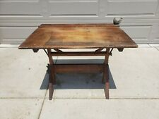 New listing Antique Industrial Steampunk Drafting Table Fritz Mfg Grand Rapids Mi