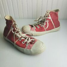Converse (Product) Red Paint Swatch All Star Hi Top Sneakers Shoes Womens 8 M 6