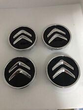 4 LOGO EMBLÈME CITROEN Noir 60 mm caches moyeu jante, centre de roue