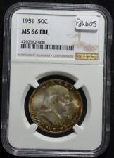 1951 Franklin Half Dollar, NGC MS66 FBL, FREE SHIPPING!!!! FDHB05