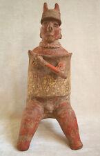 Magnificent Pre-Columbian NAYARIT SEATED WARRIOR, ca. 100 BC - AD 250